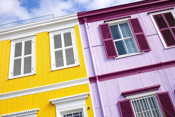valparaiso casas - foto de stock