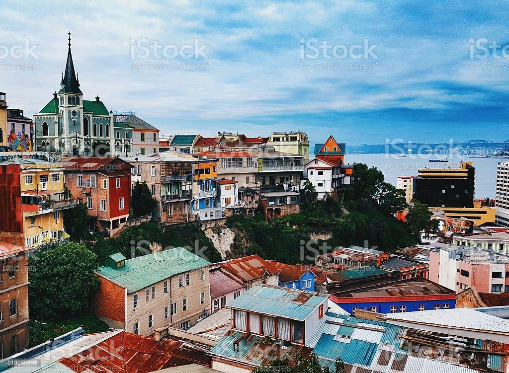 Valparaiso houses stock photo