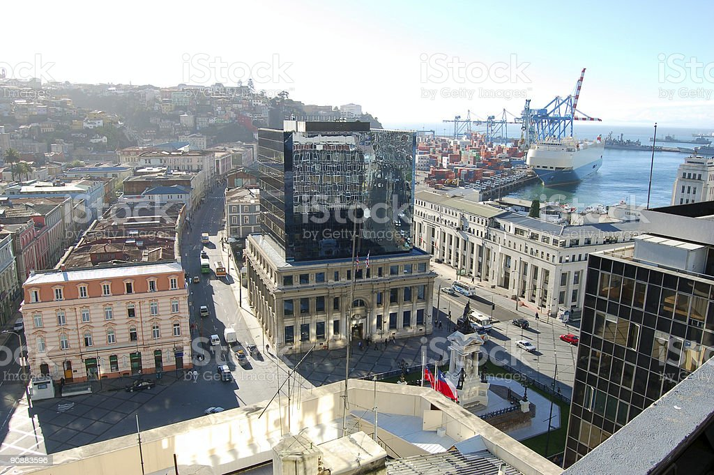 Valparaiso, old part of town royalty-free stock photo