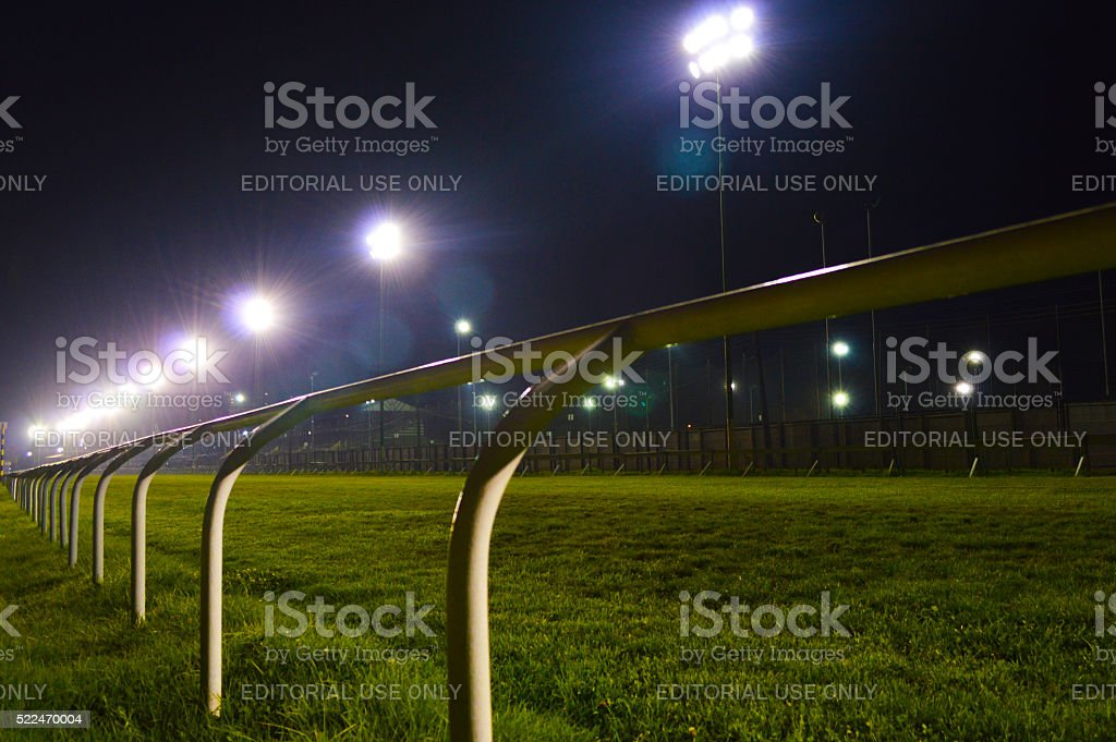 Valparaiso Sporting Club horse racing track stock photo