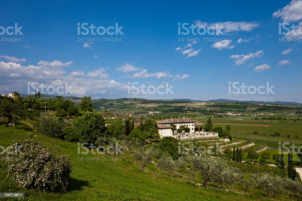 Valpolicella Panorama, Italy royalty-free stock photo