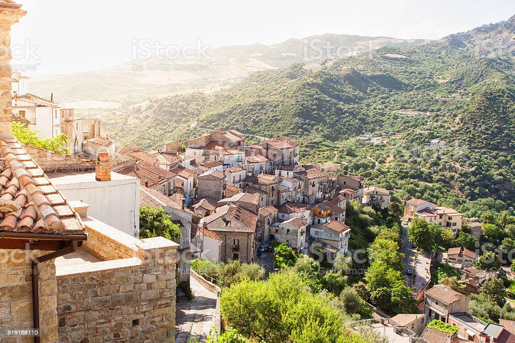 Valsinni città, Basilicata, Italia - foto stock