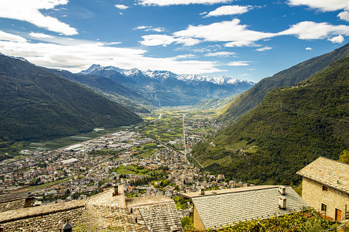 A view of Valtellina from Roncaiola above Tirano