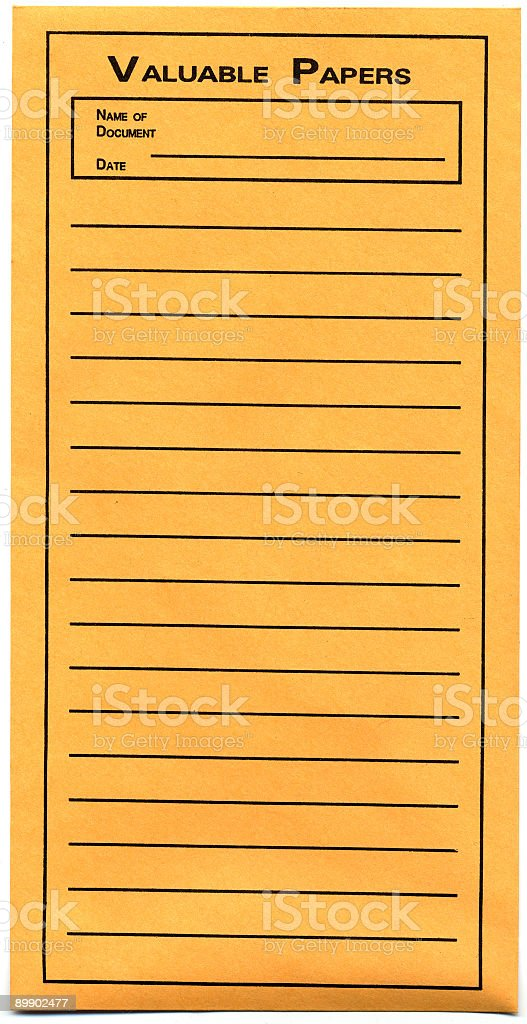 Valuable papers royalty-free stock photo