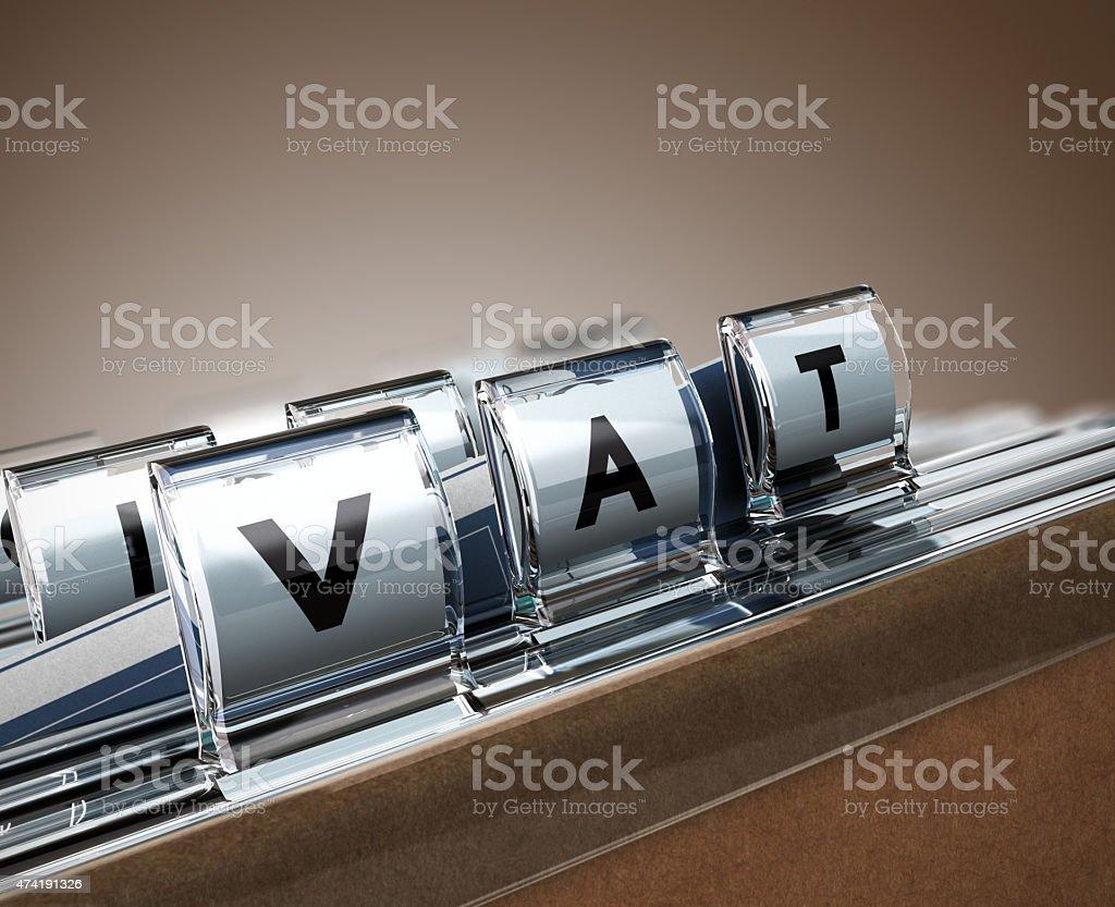 VAT, Value Added Tax stock photo