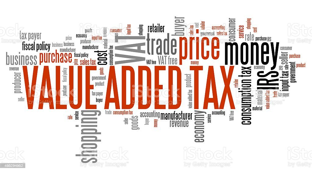 Value added tax stock photo