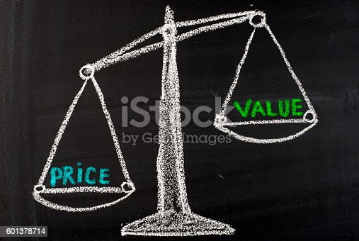 istock Value and Price concept 601378714