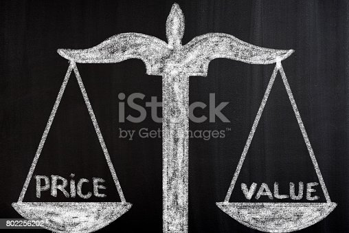 istock Value and price concept 802256202
