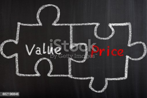 istock Value And Price Puzzle Concept 652196846