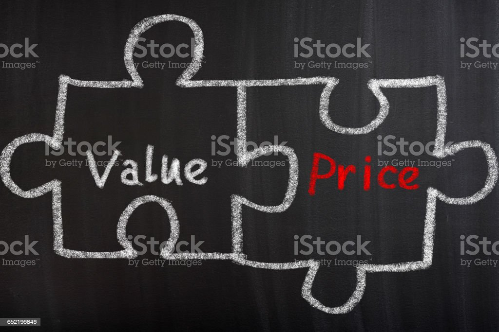 Value And Price Puzzle Concept stock photo