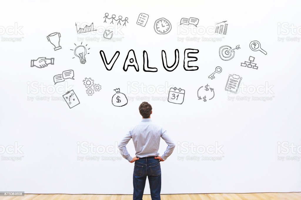 value business concept stock photo