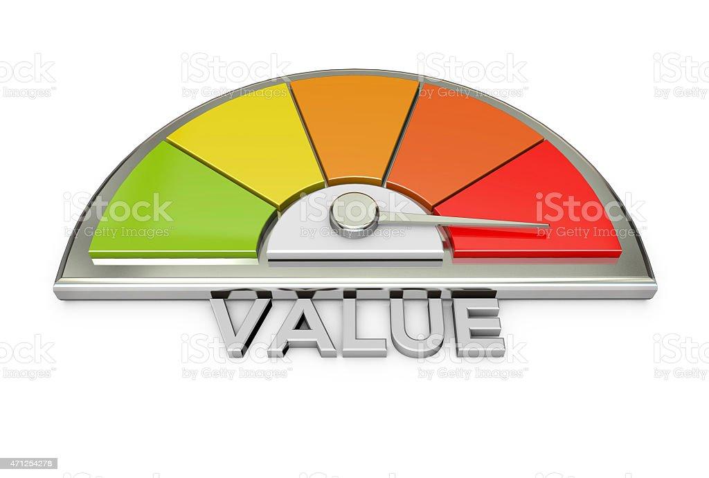 value chart stock photo