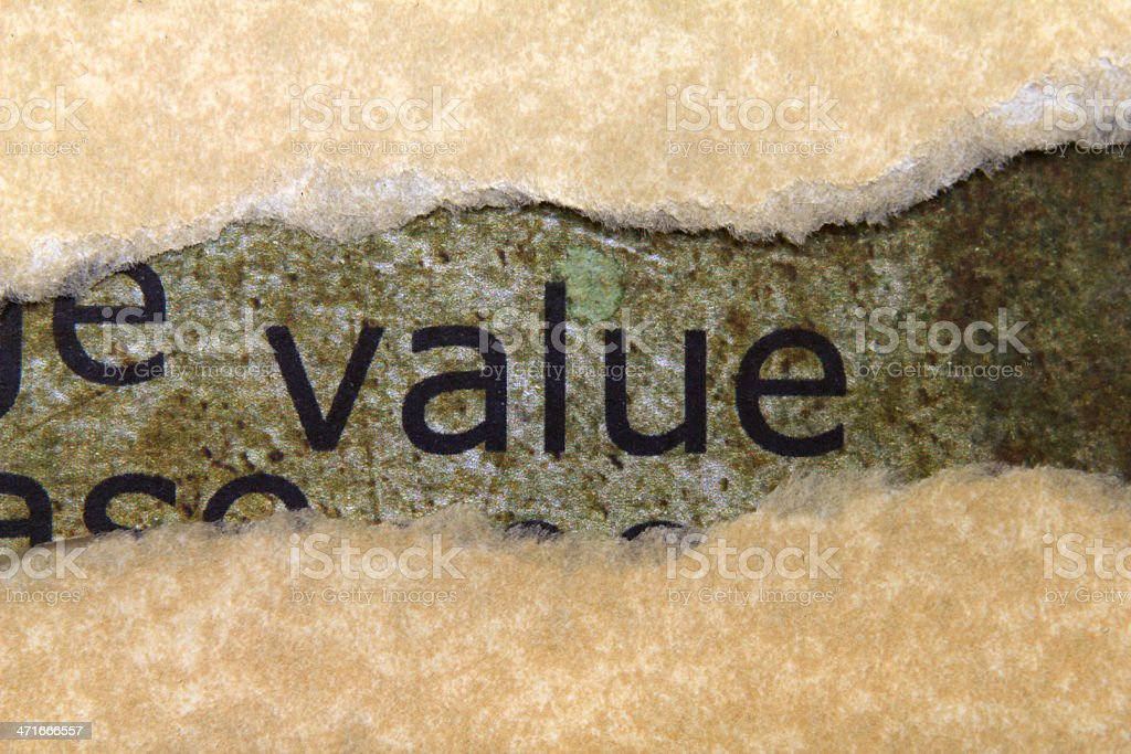 Value concept royalty-free stock photo