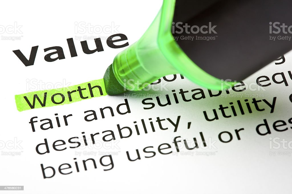 Value Definition royalty-free stock photo