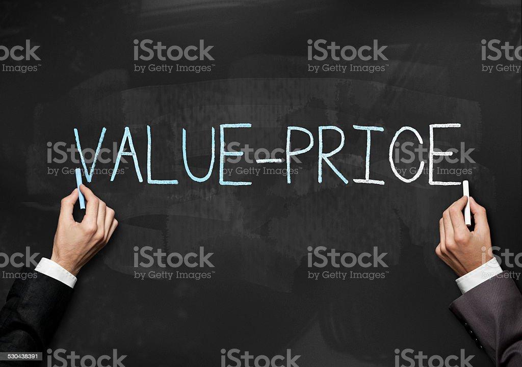 Value - Price / Blackboard (Click for more) stock photo