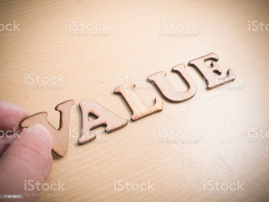 Value Words Typography Concept Stock Photo Download Image Now Istock