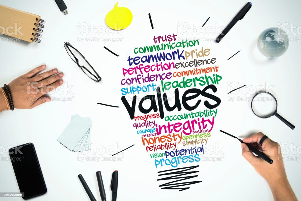 Values Business concept stock photo