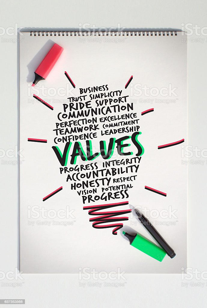 Values Rises with New Concept stock photo