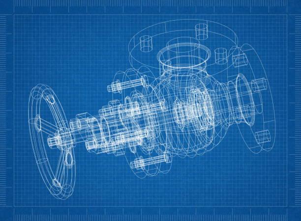 Plan de arquitecto de la válvula - foto de stock
