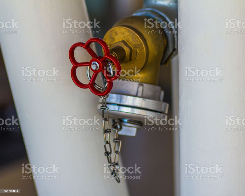 Valve of fire hydrant stock photo