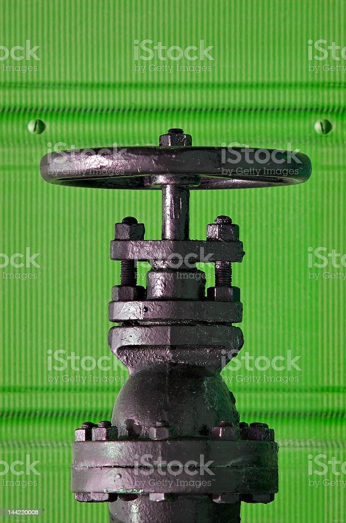 Valve on Green royalty-free stock photo