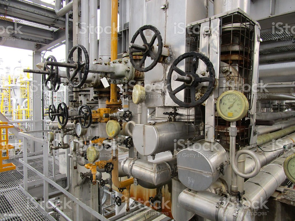 Valve station stock photo