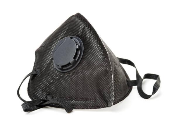 ventil atemschutzmaske. einweg-atemschutzmaske gesicht.  weißem hintergrund - luftventil stock-fotos und bilder