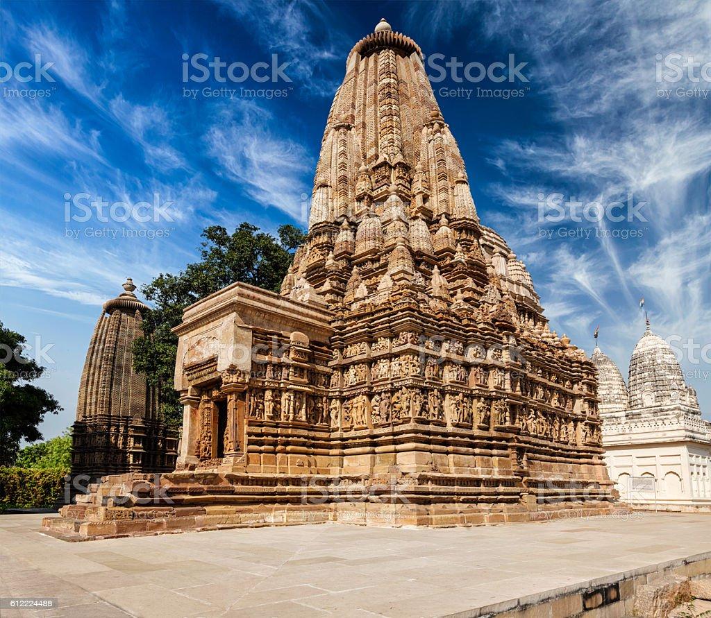 Vaman Temple in Khajuraho stock photo