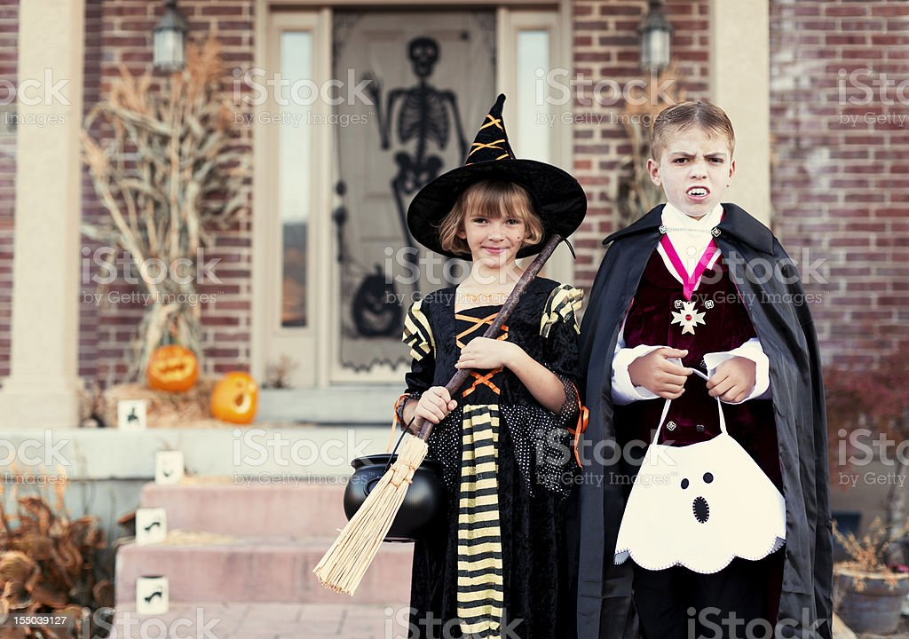 Vampire and Witch royalty-free stock photo