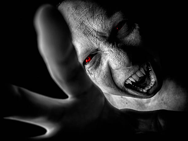 vampire attack - demon stock photos and pictures