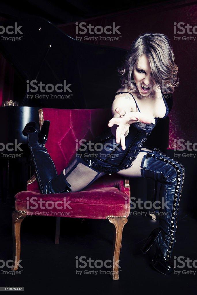 Vampire Burlesque stock photo