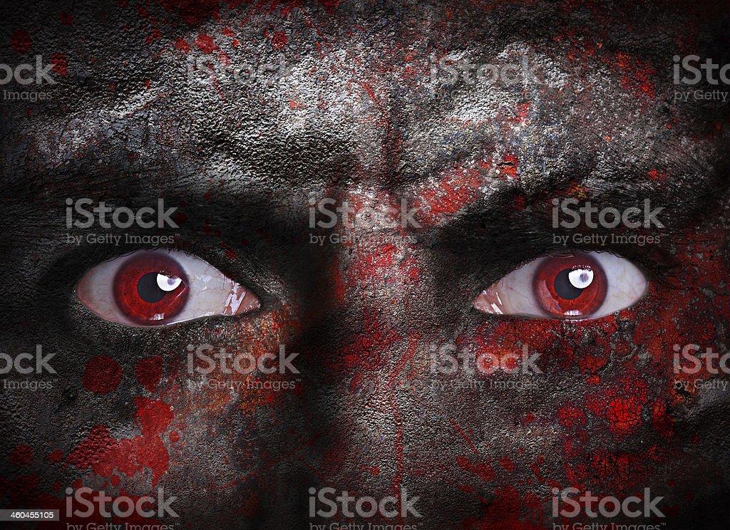 Vampire face stock photo