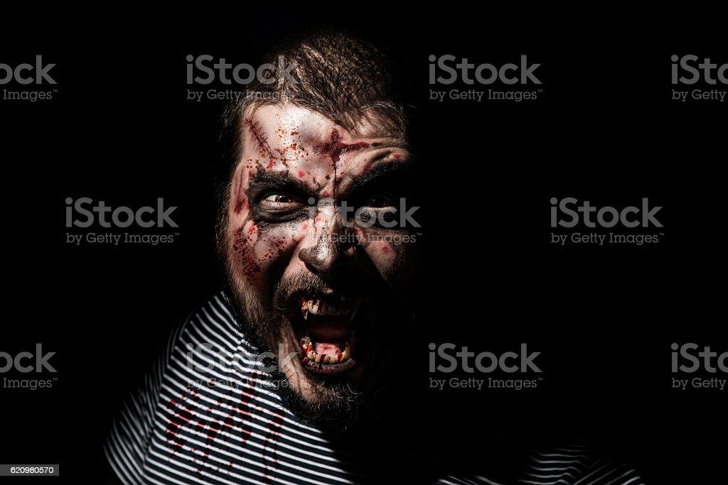 Vampire halloween man. stock photo