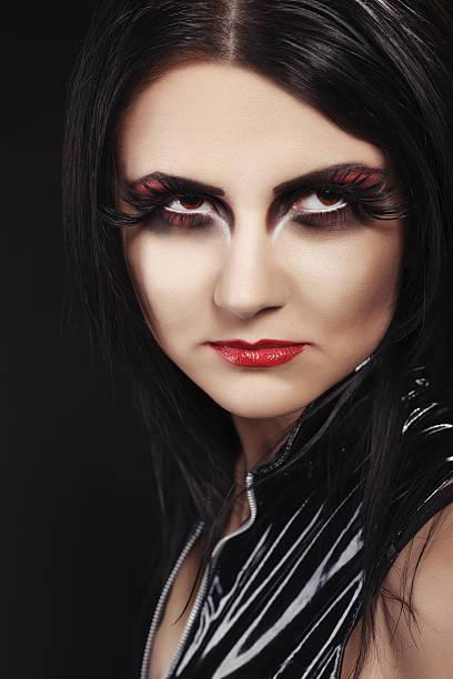 vampir intensive look - teufel schminken stock-fotos und bilder