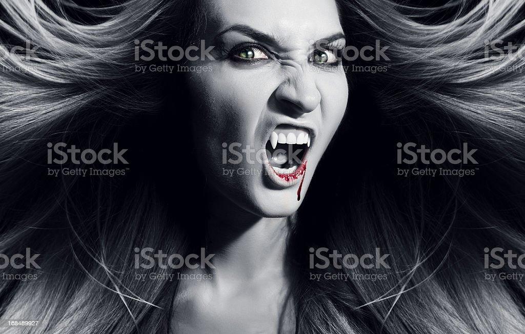 Vampire is screaming. royalty-free stock photo