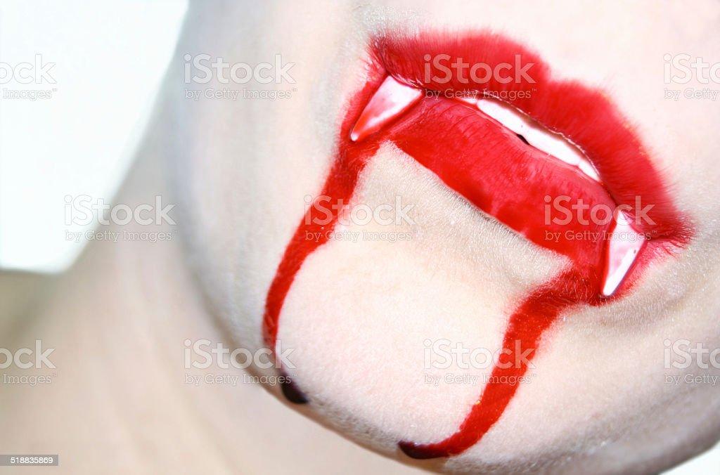 Vampire kiss stock photo