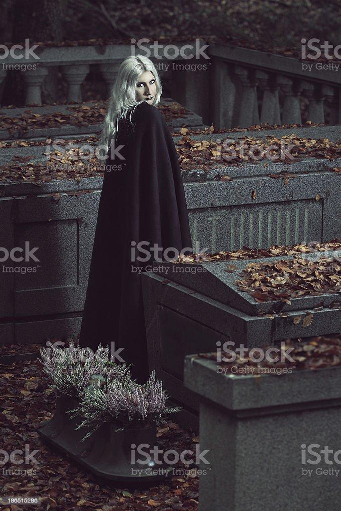 Vampire lady portrait royalty-free stock photo