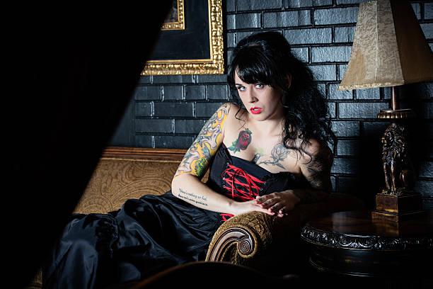 vampir - baroque tattoo stock-fotos und bilder