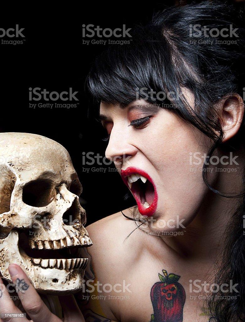 Vampire Woman royalty-free stock photo