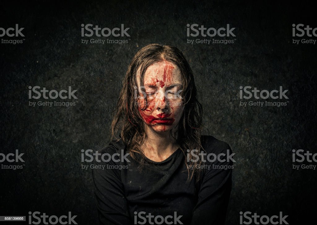 Vampire woman stock photo