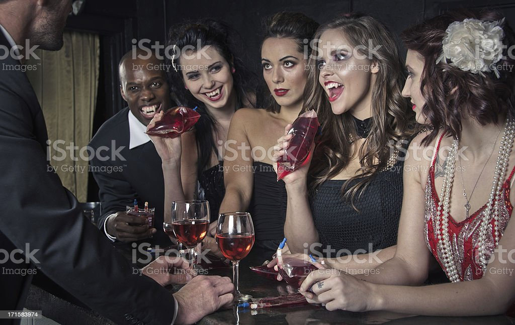 Vampires Night Out stock photo