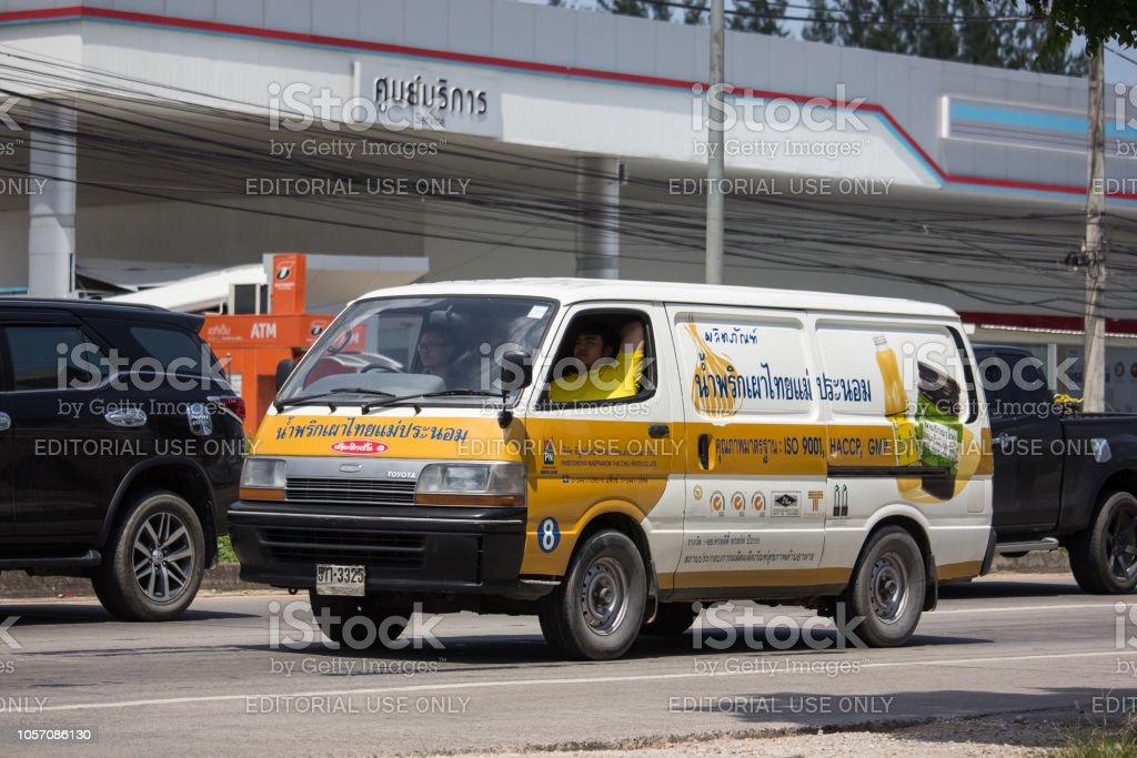 Van Cargo Car of Phiboonchai Maepranom Thai Chili Paste. Photo at...