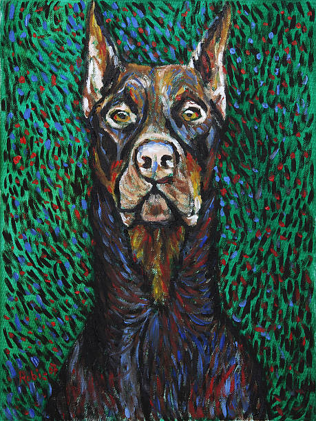 van dogh, doberman - art du portrait photos et images de collection