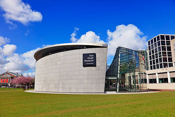 Van Gogh Museum, Amsterdam, Netherlands Amsterdam, Netherlands - May 3, 2016: Image of  Van Gogh Museum in Amsterdam during the spring. It shows one of the buildings of this museum located on the
