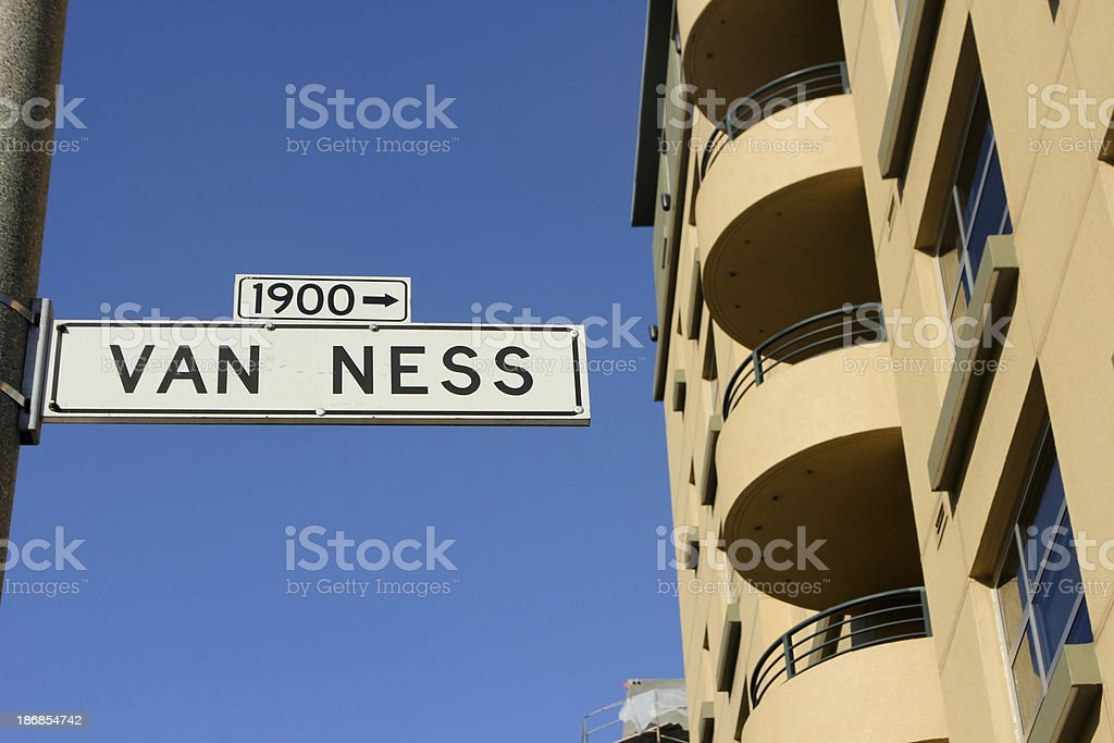 Van Ness Avenue in San Francisco, California stock photo