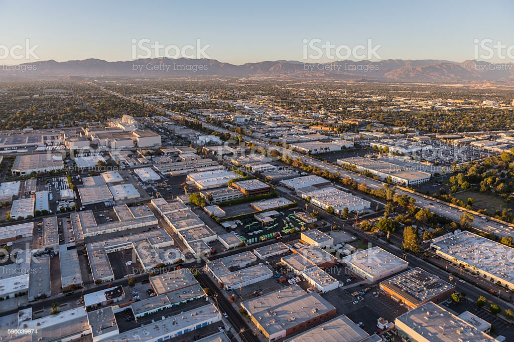 Van Nuys California Afternoon Aerial stock photo