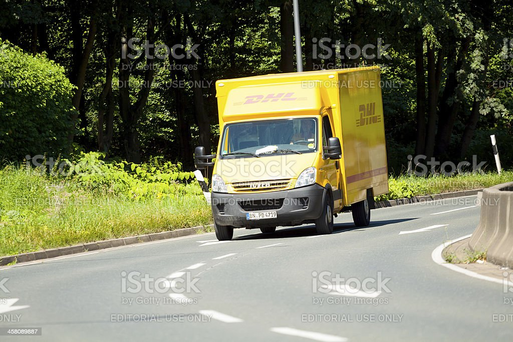 Van of Deutsche Post stock photo