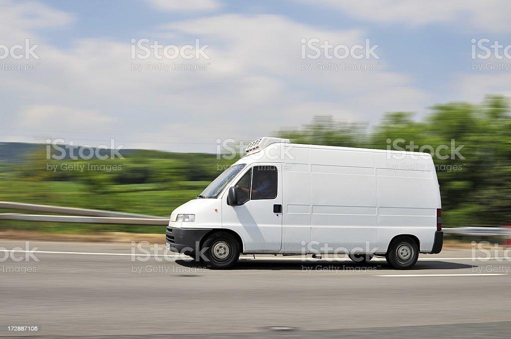 Van on the Move stock photo