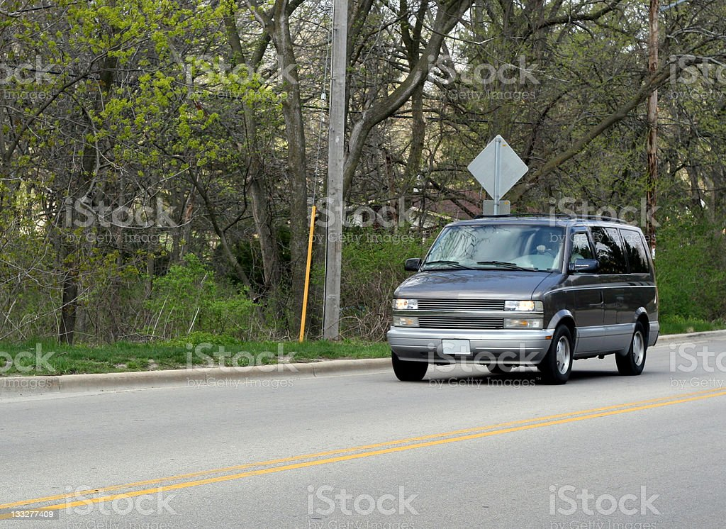 Van On the Road royalty-free stock photo