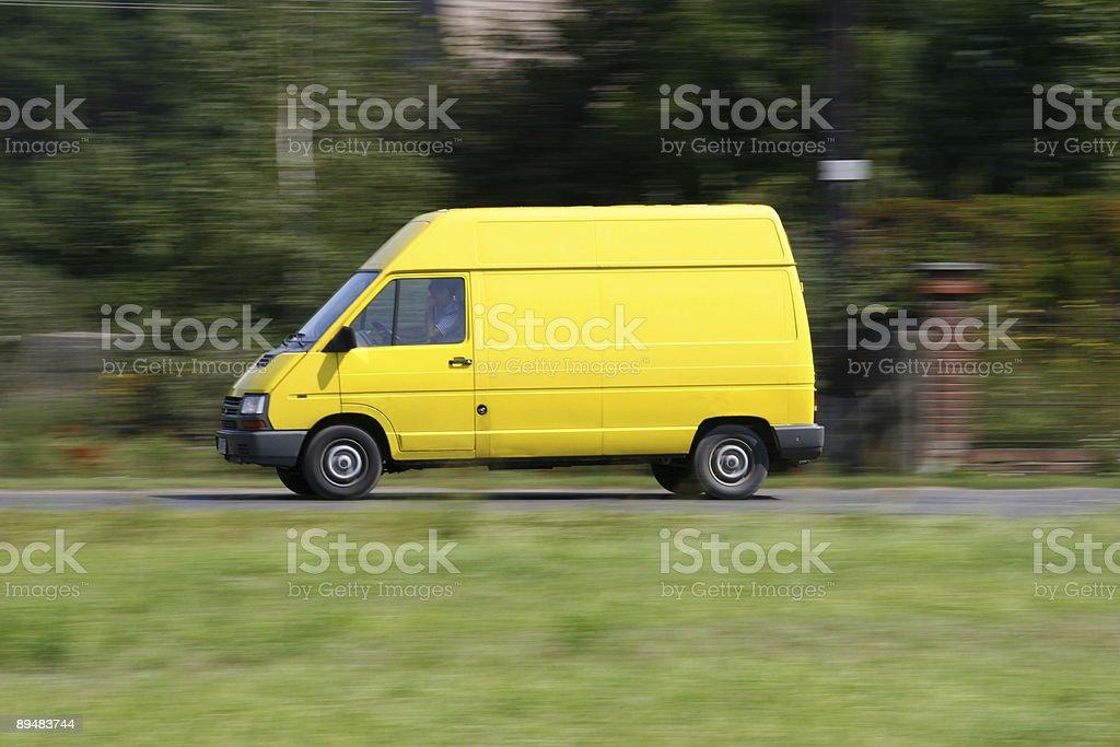 Van speed royalty-free stock photo